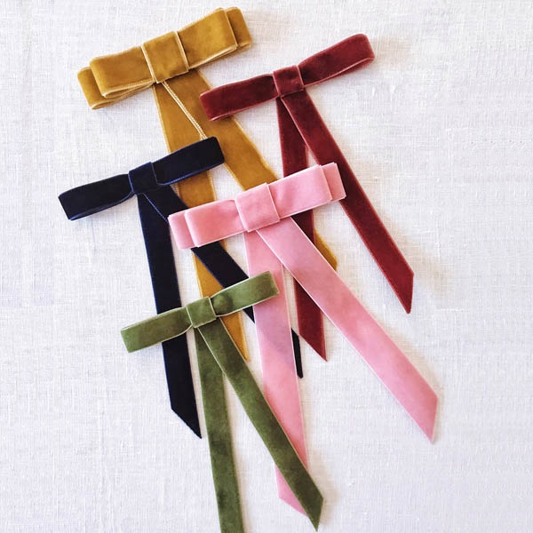 Solid Color Velvet Ribbon