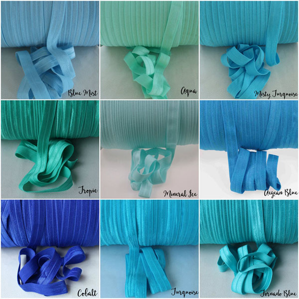Solid Color Fold over Elastic Ribbon