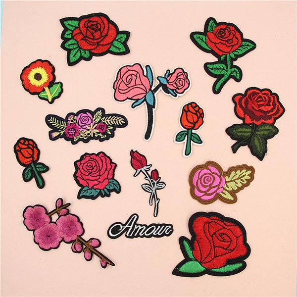 Rose Patch For Cloth